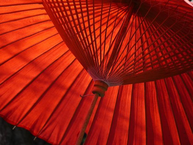 和傘の写真。