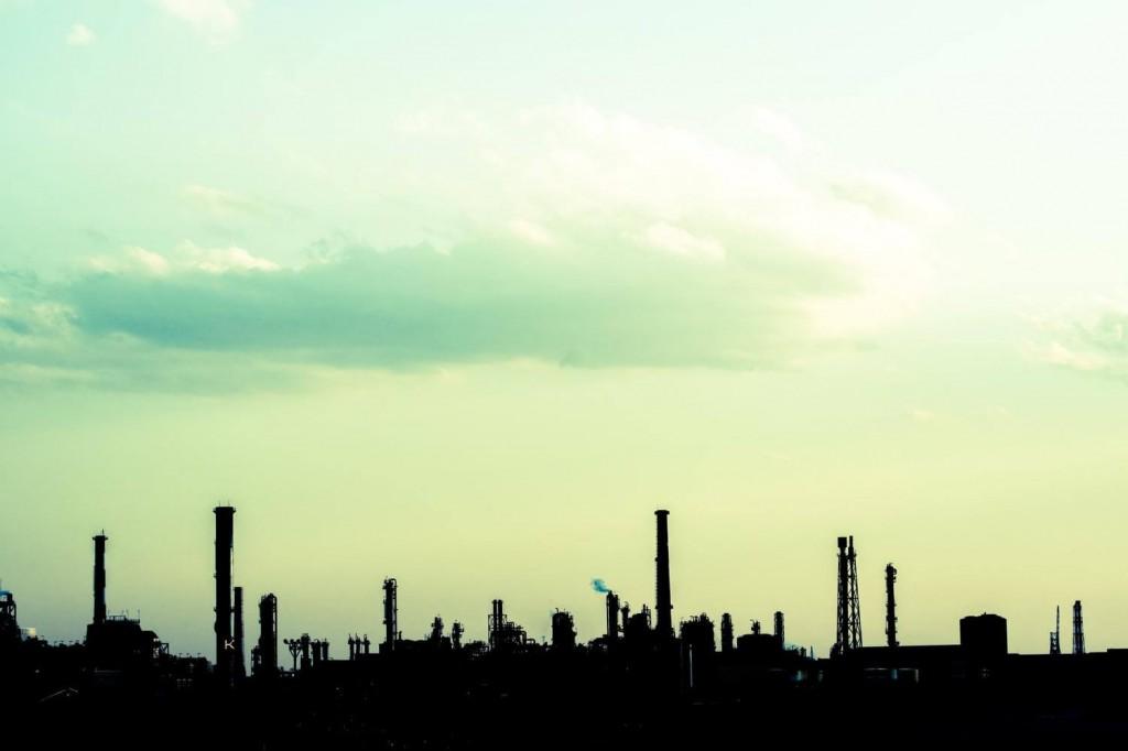 工場群の図。遠州は工業の町として発展した。
