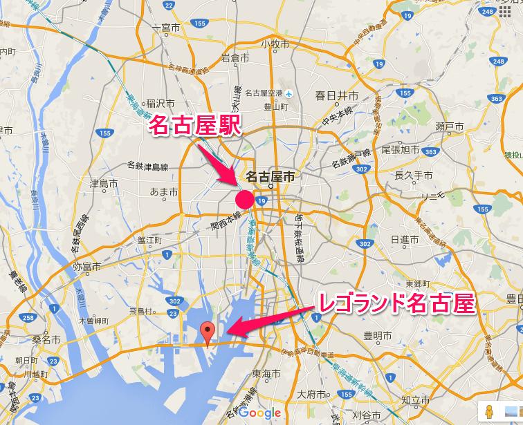 レゴランド名古屋の地図