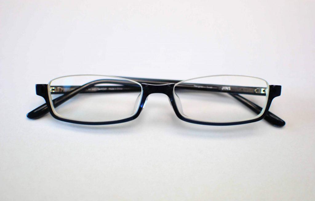 JINSのアンダーリムメガネ