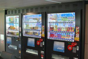 フェリー内の自動販売機画像