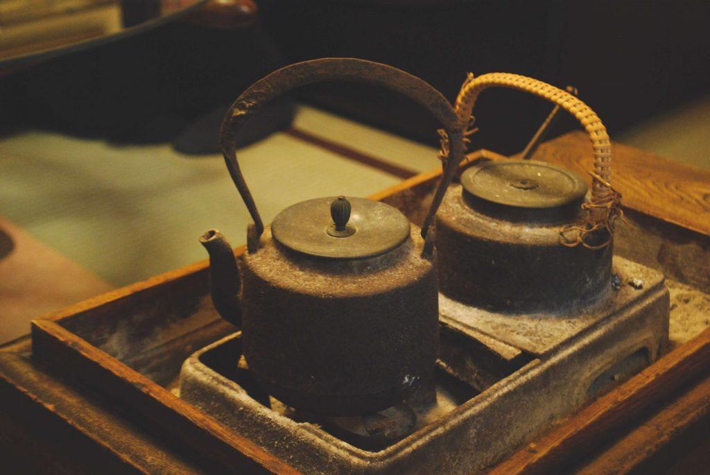 鳥取の旅館にあった鉄瓶
