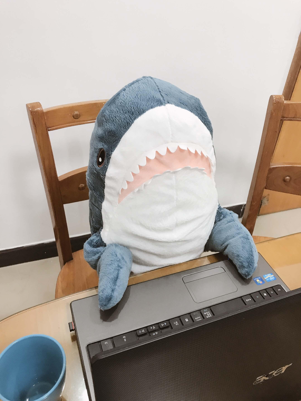 実際に買ったIKEAのサメぬいぐるみの写真