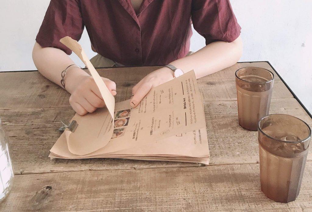 カフェ・ザ・モーニングのメニュー