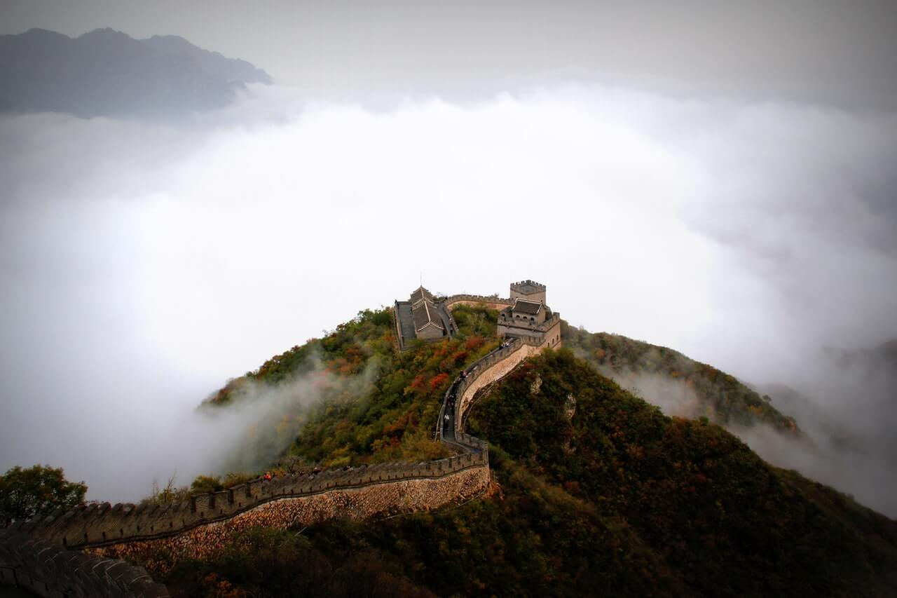中国の、万里の長城