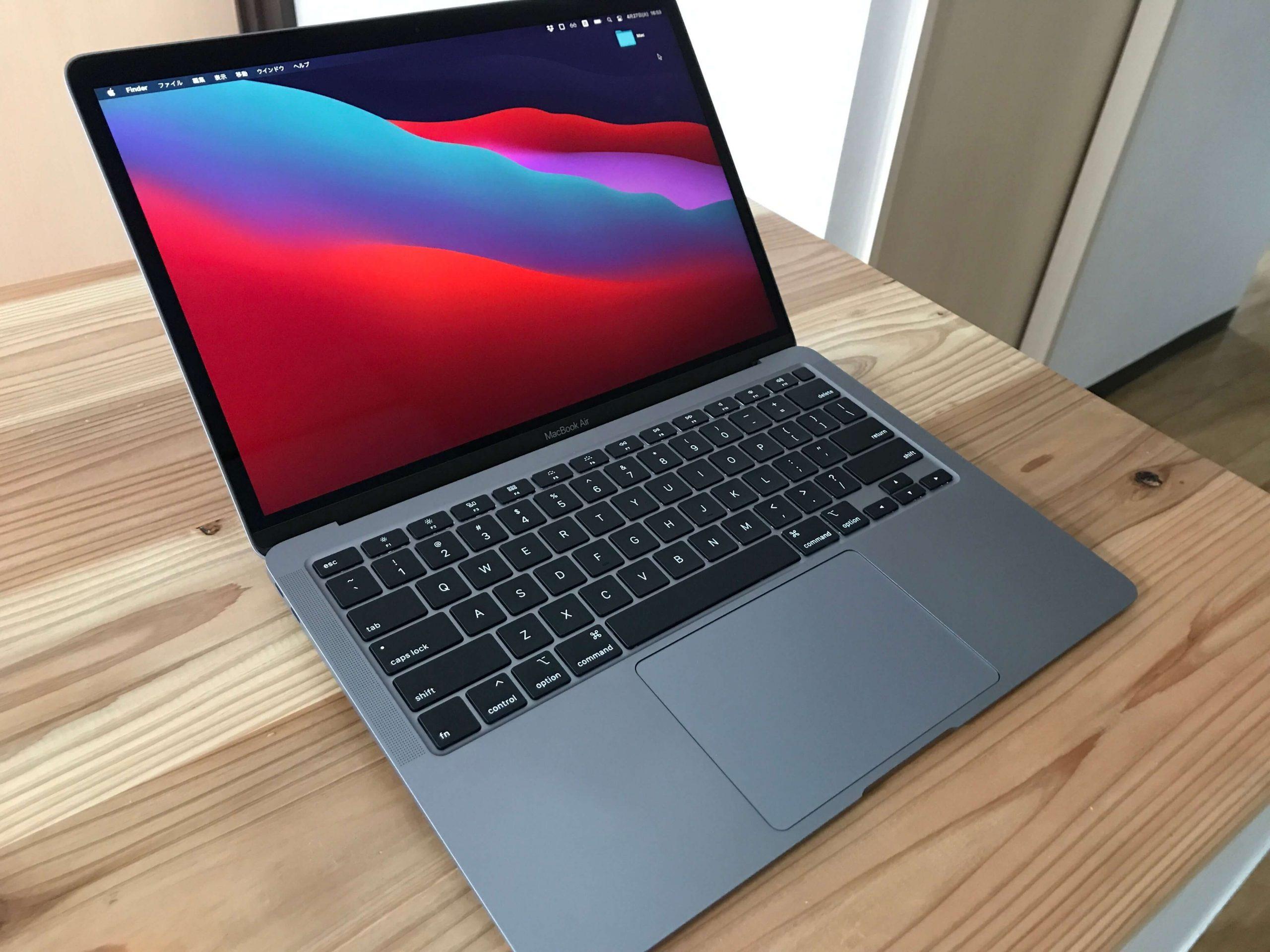 macbookを開いたところ